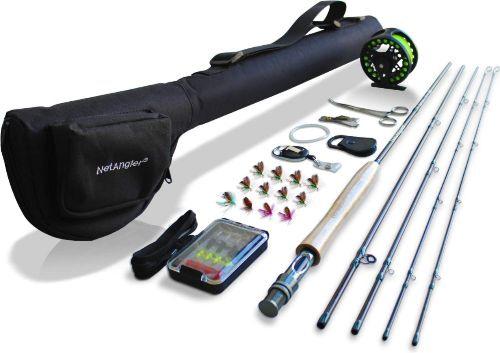 4 Piece NetAngler Fly Fishing Rod and Reel